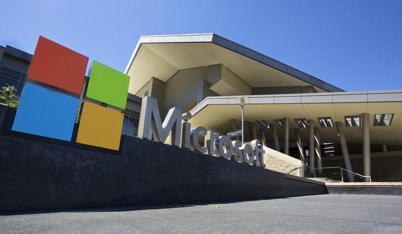 El Centro de visitantes en el campus de la sede de Microsoft se muestra el 17 de julio de 2014 en Redmond, Washington.