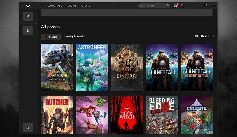 Aplicación Xbox agosto de 2021