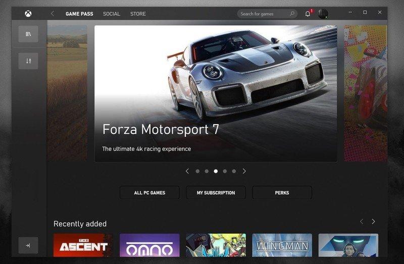 Aplicación Xbox agosto