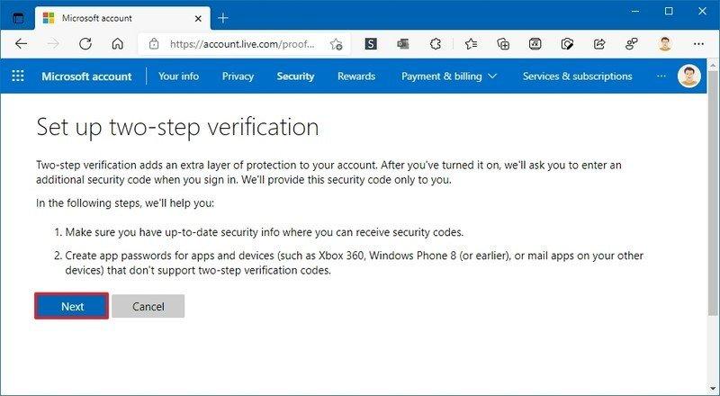 Configurar la verificación en dos pasos