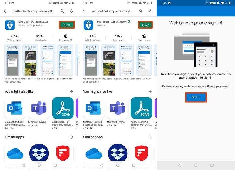 Aplicación Microsoft Authenticator