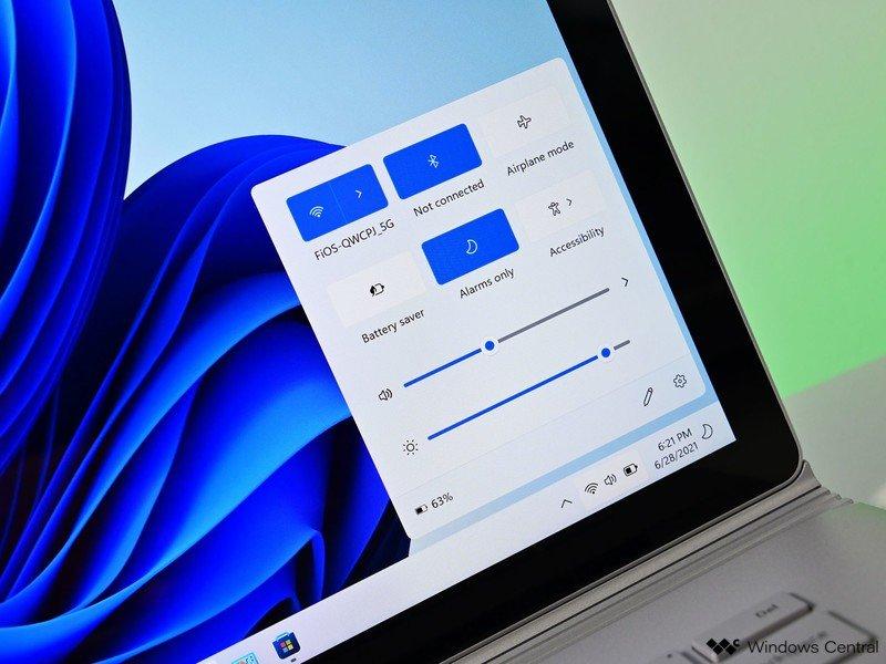 Acciones rápidas de Windows 11