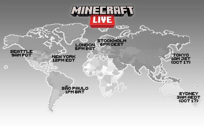 Imágenes de tiempo de transmisión de Minecraft Live 2021