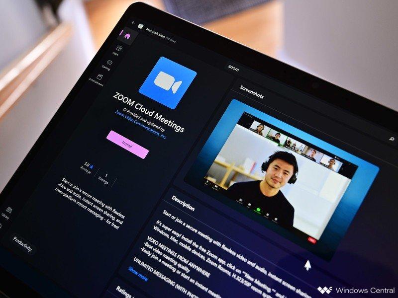 Aplicación Zoom de la Tienda Windows 11