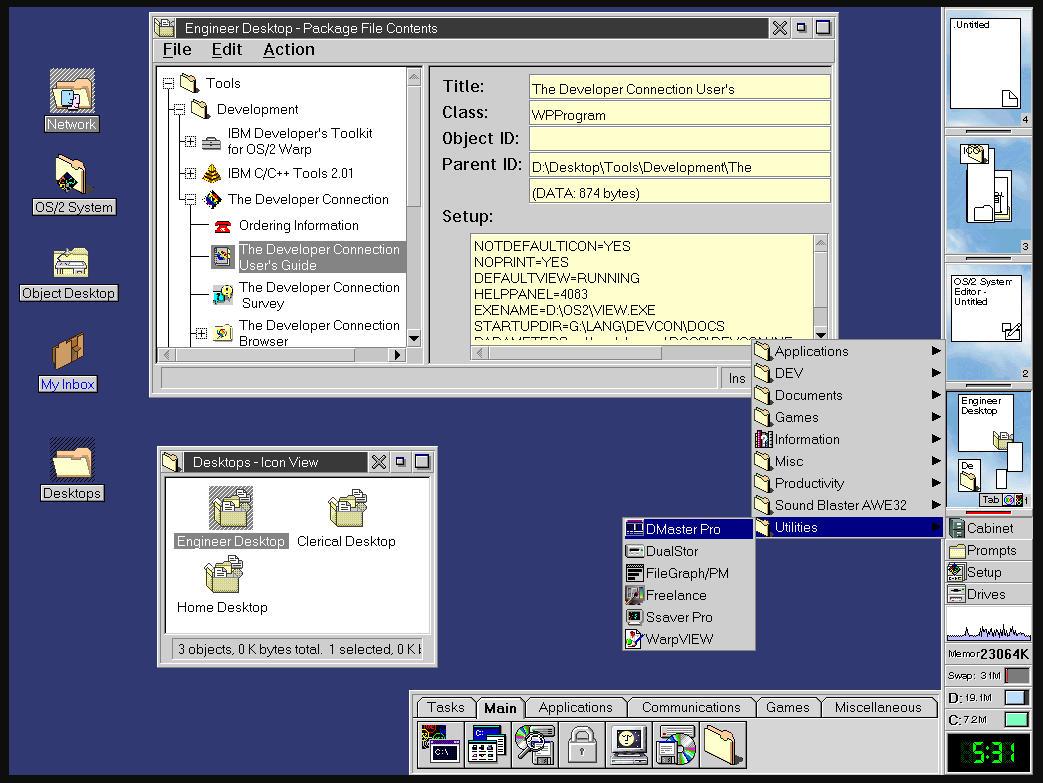 25 años de IBM OS / 2 Warp 4, la batalla final contra Windows 34