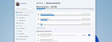Cómo optimizar el almacenamiento del disco duro en Windows 11 eliminando archivos que no usa y sin herramientas de terceros