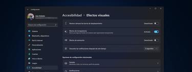 Cómo desactivar animaciones y transparencias en Windows 11 para ahorrar RAM y recursos
