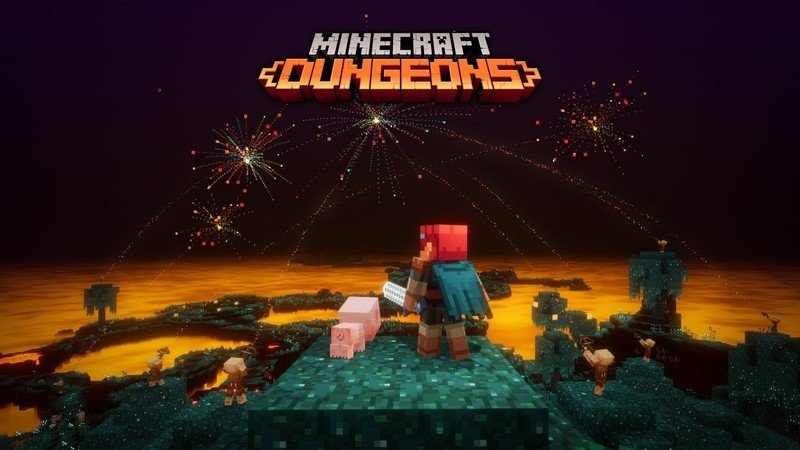 Minecraft Dungeons Flames Of The Nether Celebración Dlc