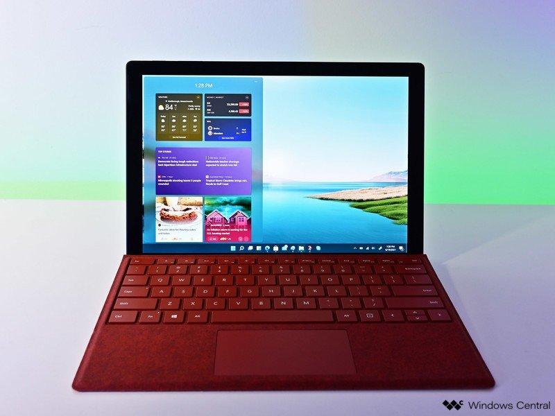 Widgets de Surface Pro de Windows 11