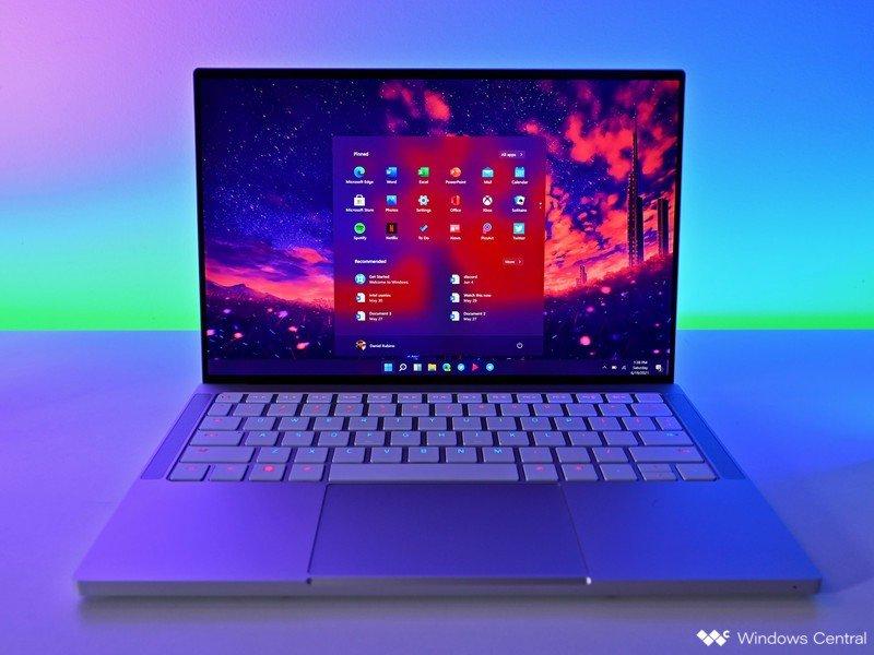 Windows 11 Inicie la computadora portátil Razerbook