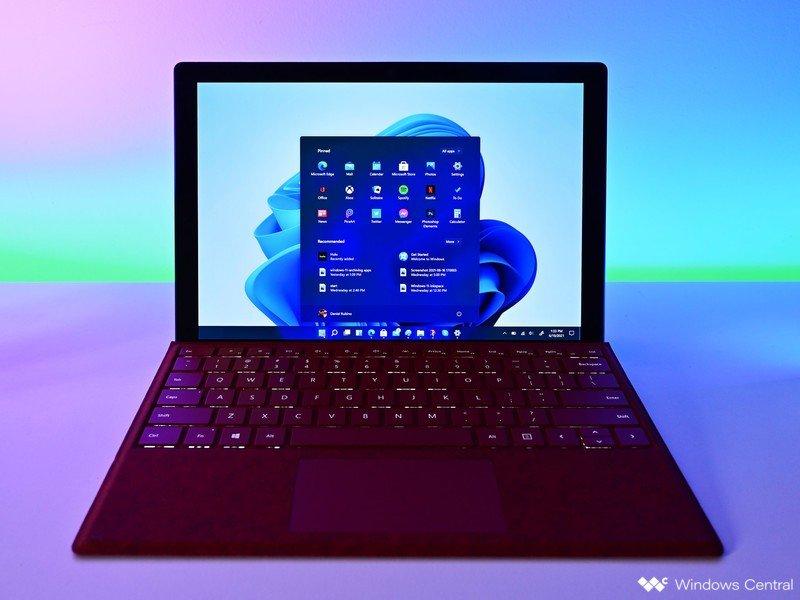Iluminación de Surfacepro de inicio de Windows 11