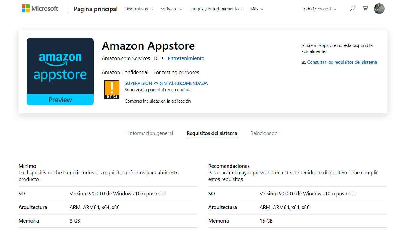 La tienda de Amazon aparece en Windows 11